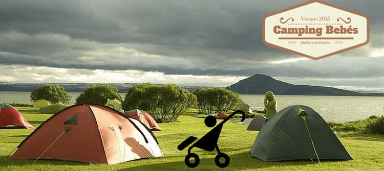 Bébé d'un mois au camping